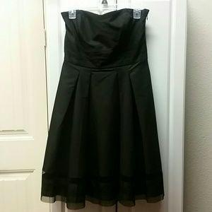 WHBM black strapless dress
